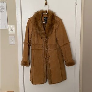 Dennis Basso Genuine Leather and Faux fur coat